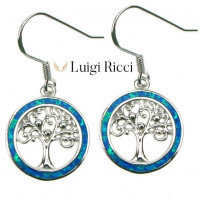 Buy Silver Jewelry With Blue Opal Stone For Sale Online FREE Shipping