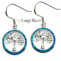Buy Luigi Ricci Silver Earrings With Opal Stone For Sale Online