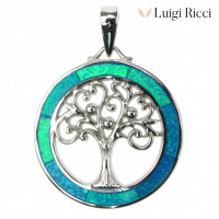 Buy Luigi Ricci Silver Necklaces & Pendants with Silver & Opal Stone